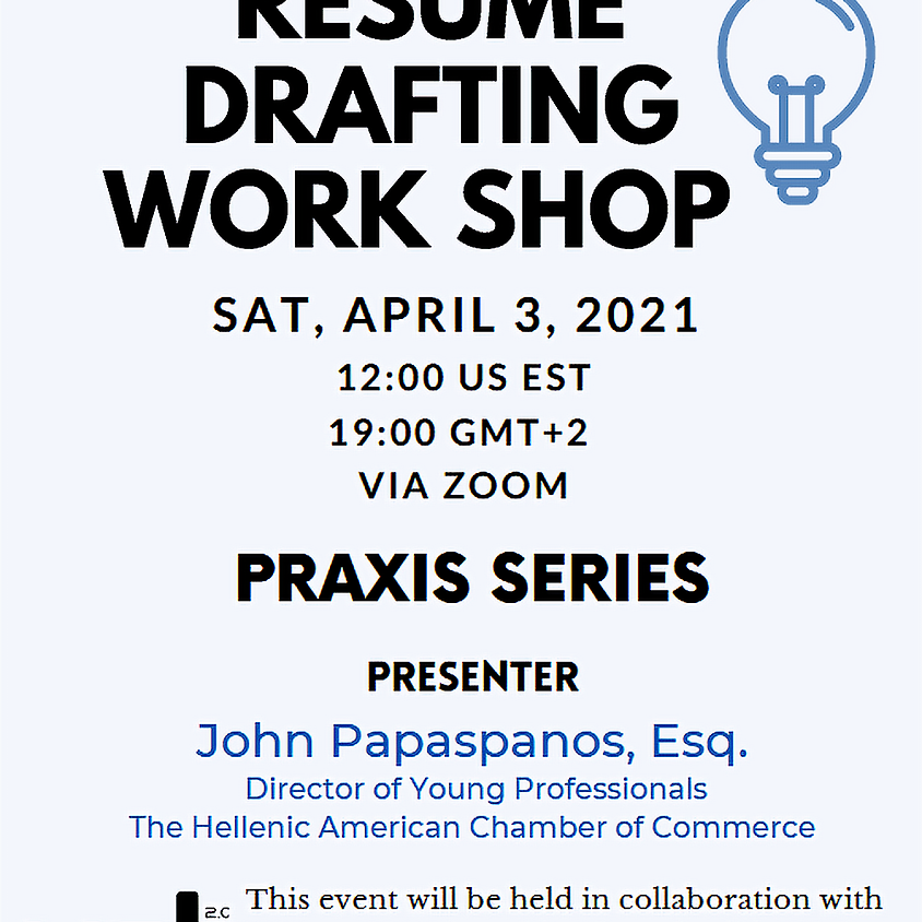 HACC- Young Professionals Praxis Series Resume Drafting Workshop