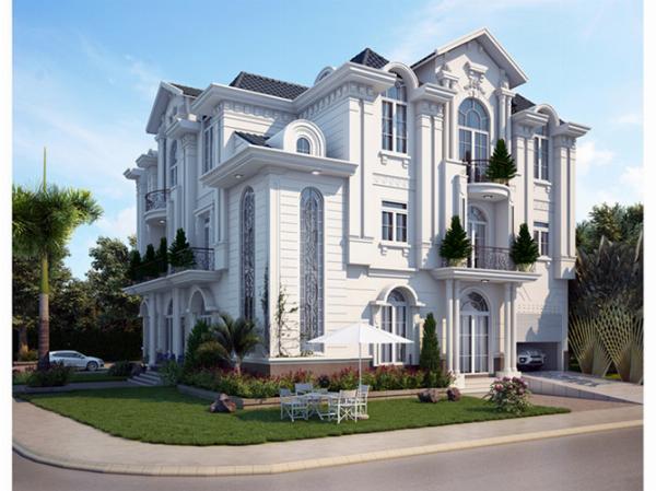 Mẫu dinh thự kiểu Pháp 3 tầng đẹp hoành