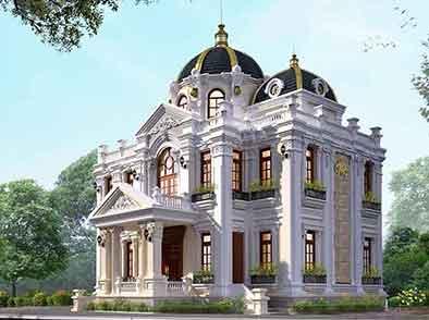 Mẫu dinh thự 2 tầng Tân cổ điển