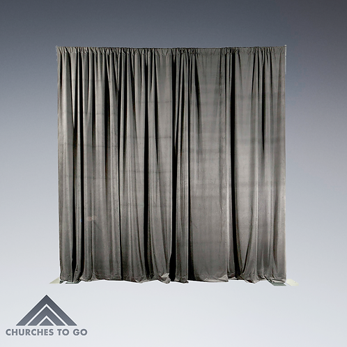Drape Velour Ash Gray