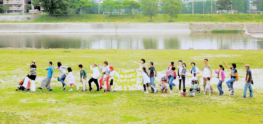 武庫川の河川敷は、小雨でもとても気持ち良かったです(^^)