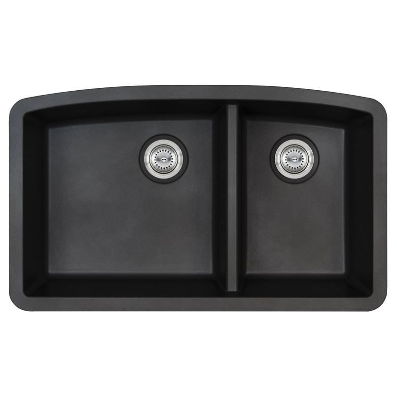 BLACK QUARTZ DOUBLE BOWL 60-40-3219
