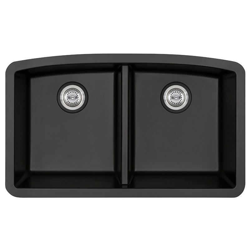 BLACK QUARTZ DOUBLE BOWL 50-50-3219