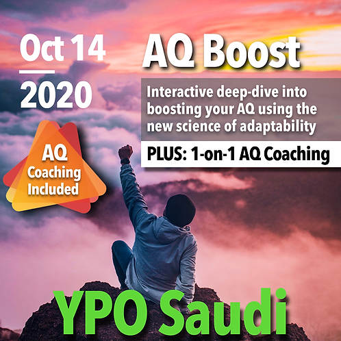 YPO Saudi Special: AQ Assessment & AQ Boost Live (with AQ Coaching)
