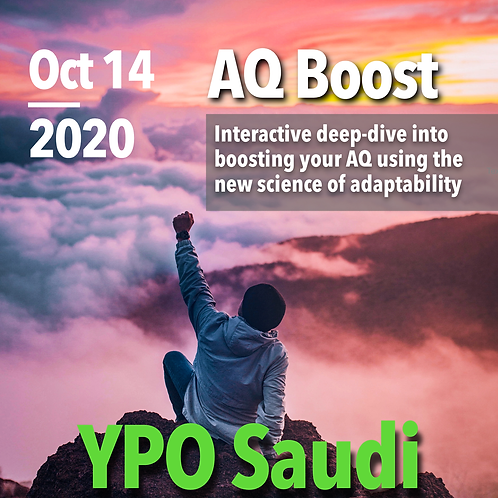 YPO Saudi Special: AQ Assessment & AQ Boost Live (without AQ Coaching)