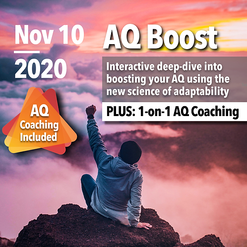 YPO Oman Chapter Special: AQ Assessment & AQ Boost Live (with AQ Coaching)