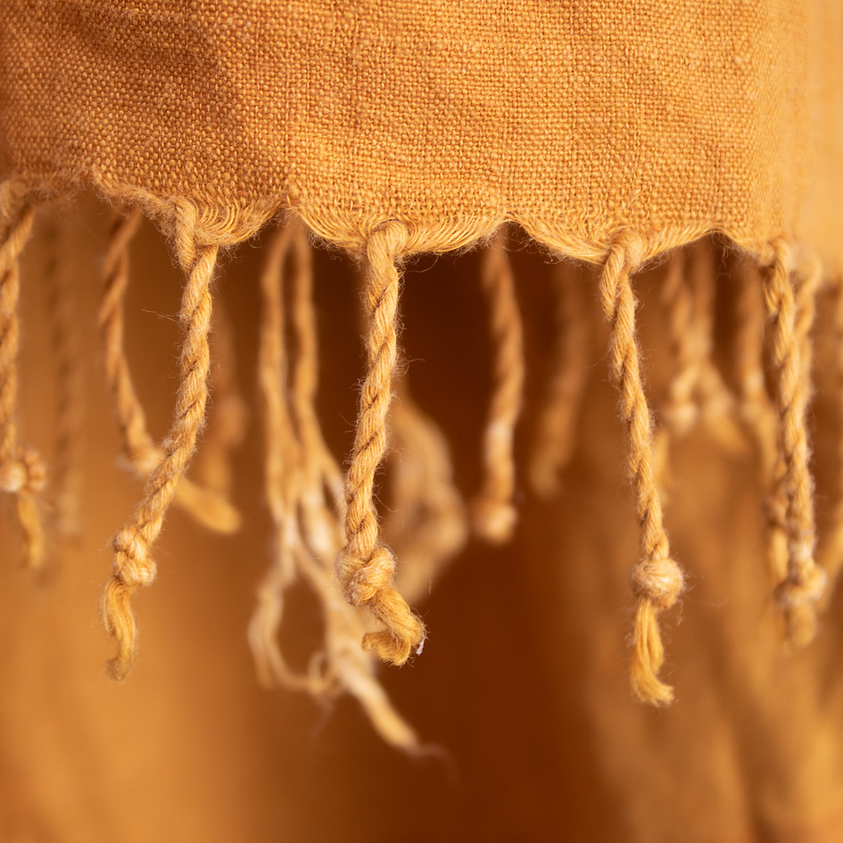 Organic cotton and dyed shawl with turmeric