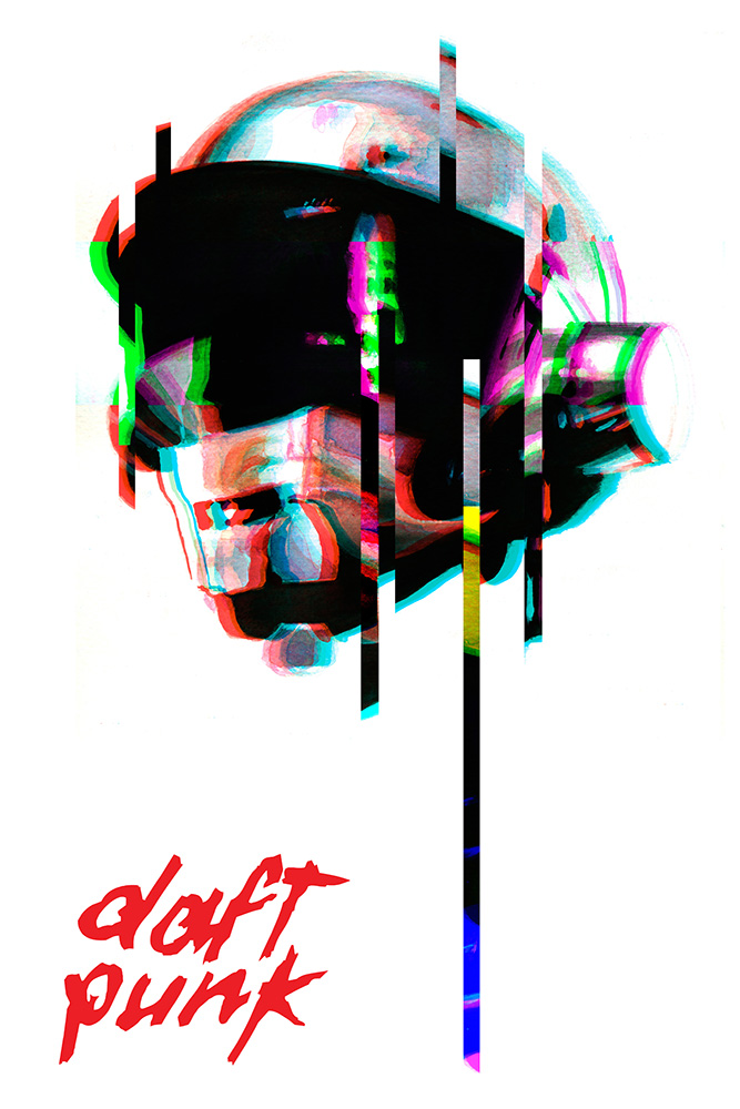 Daft Punk Fan Poster