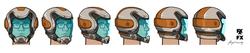 Space Helmet Cyril - Head Turnaround