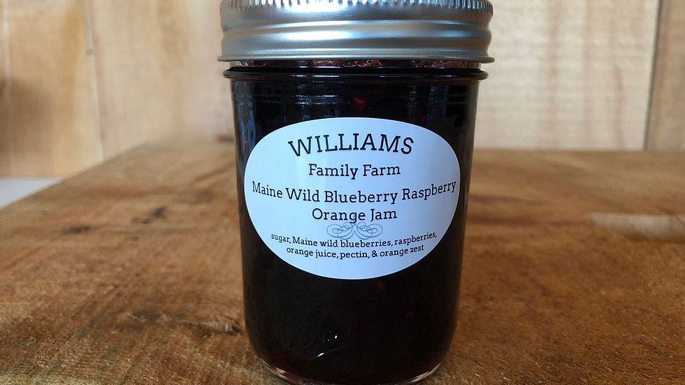Blueberry Raspberry Orange Jam - 8oz