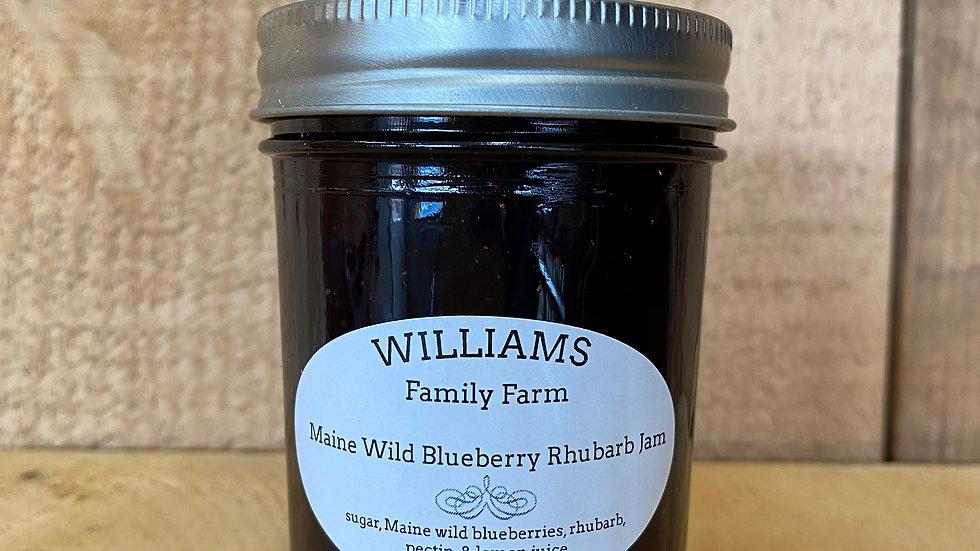 Blueberry Rhubarb Jam -8 oz.