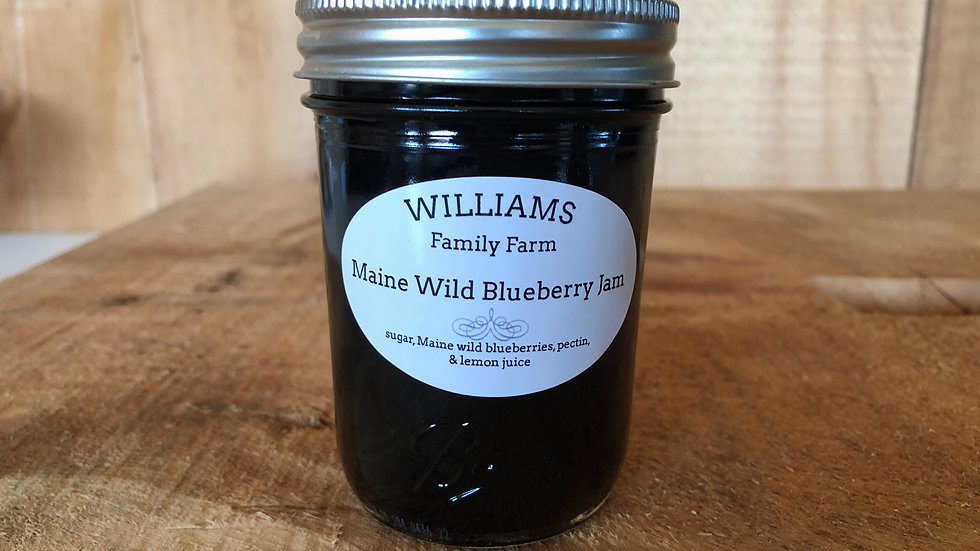 Maine Wild Blueberry Jam - 8 oz.