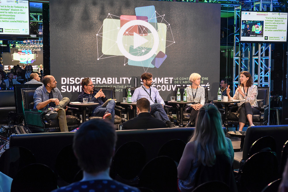 Panel on Journalistic Storytelling at Discoverability Summit.