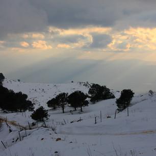 Winter-Sonnenaufgang
