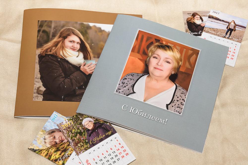 Варианты фотокниг и календарей с изображением в край и с полями