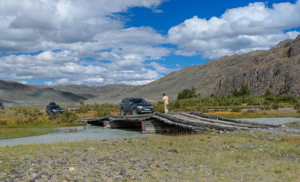 Мост через реку Акколь возле слияния ее с Караоюком. Через пару десятков метров начинается Чаган