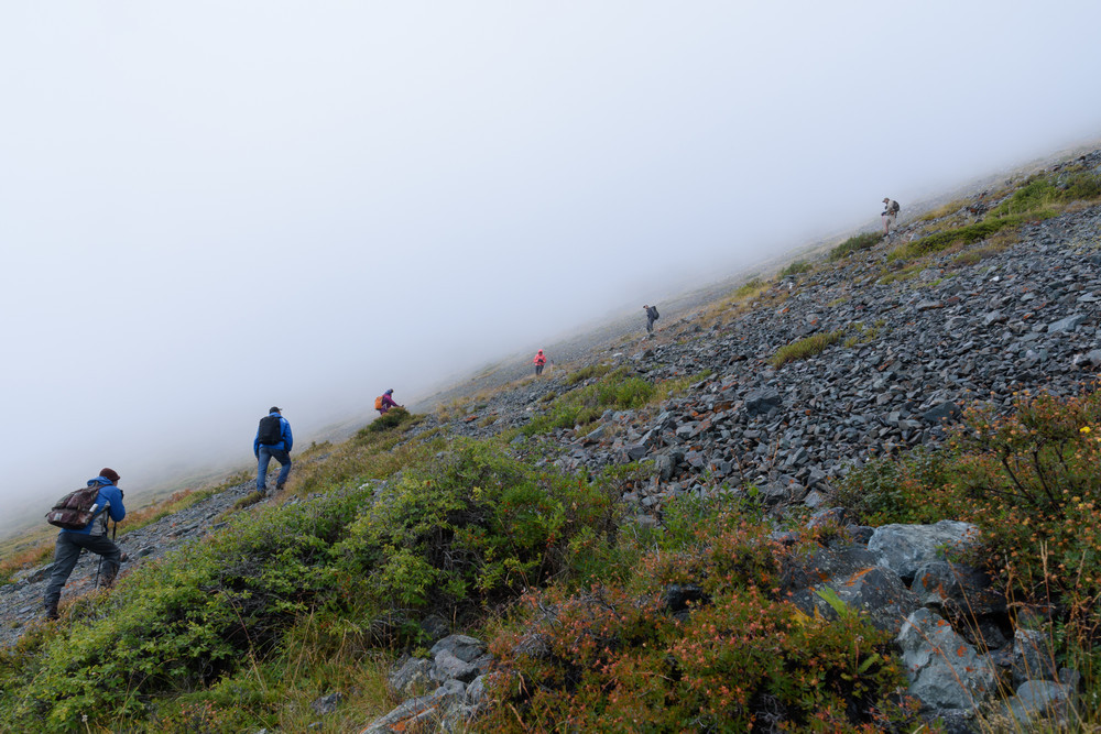 Кругом туман. Вершин не видно