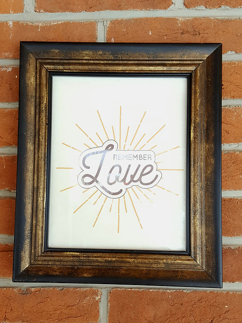 Remember Love digital print