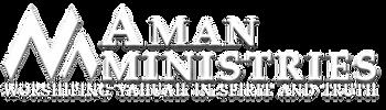 Aman Logo Symbol, Mountain spelling AMAN