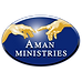 AMAN MINISTRIES Logo, The Creation of Adam Hands by Michelangelo