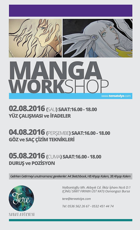 manga workshop, Bursa