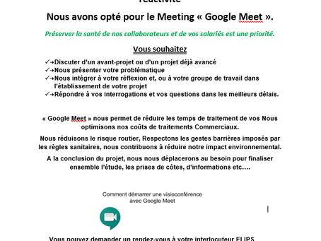 Nous utilisons Google Meet !