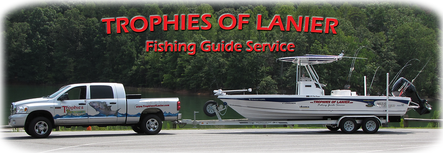 Trophies ofLanier Fishig Guide Service Boat