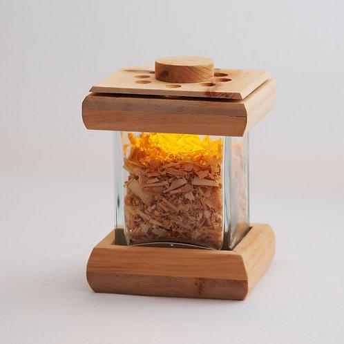 ZIRBENTRAUM mit LED Kerze