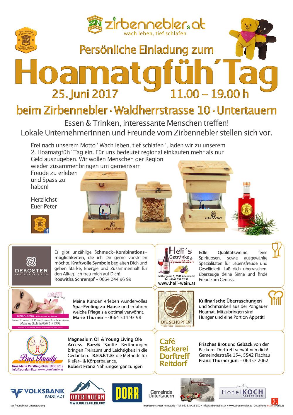 Hoamatgfüh Tag 2017 - Zirbennebler