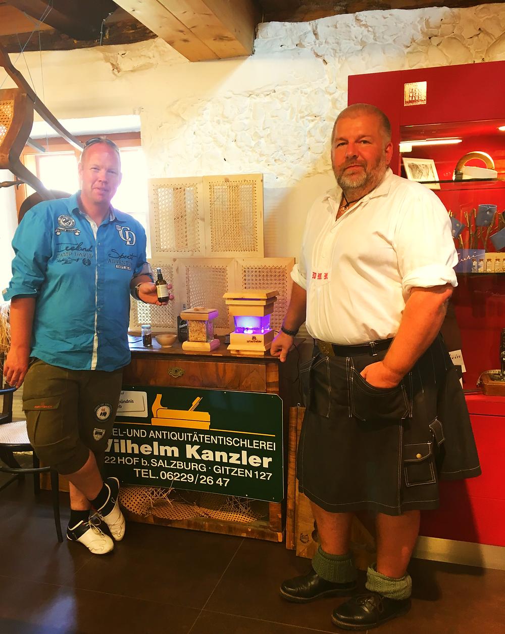 Kilt Tischler Peter Kernstock und Willi Kanzler
