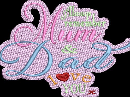 Mum & Dad Love You Blanket