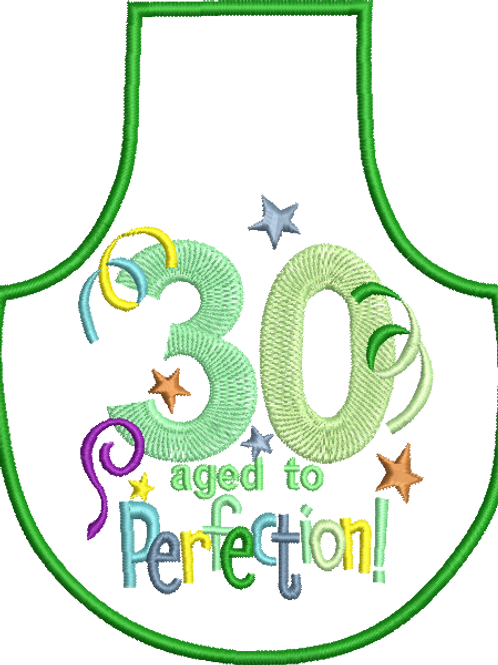 30 Age Bottle Apron - (5x7)