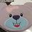 Thumbnail: ITH Bear Face Zip Bag 6x10