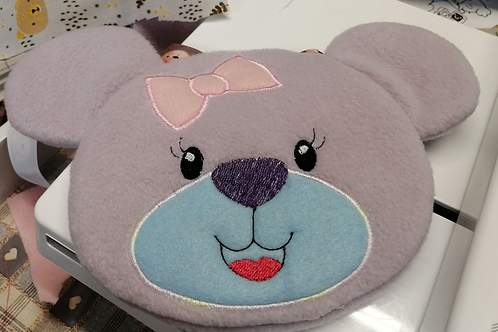 ITH Bear Face Zip Bag 6x10