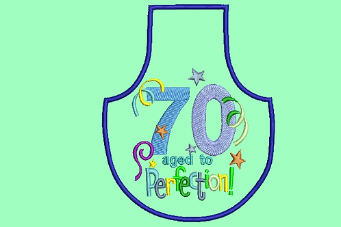 70 Age Bottle Apron Aprons - (5x7)