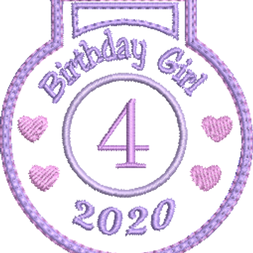 Birthday Girl Medal