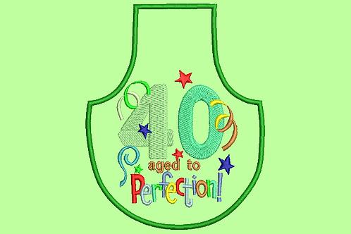 40 Age Bottle Aprons - (4x4)
