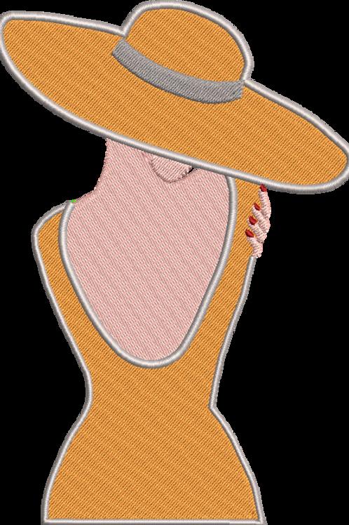 Classy Hat Lady 2 - (5x7)