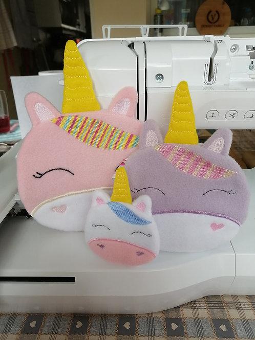 Unicorn Face Bags x 3