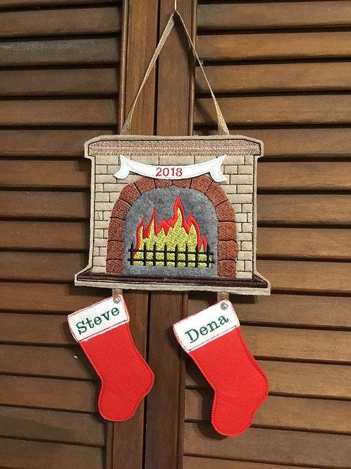 Christmas Fireplace & Stockings