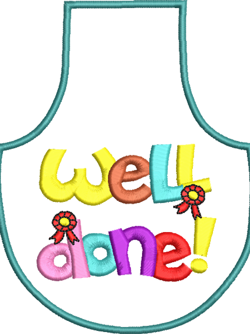 Well Done Bottle Apron - (5x7)