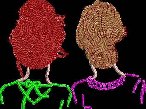 Redhead Brunette - (5x7)