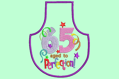 65 Age Bottle Aprons - (4x4)