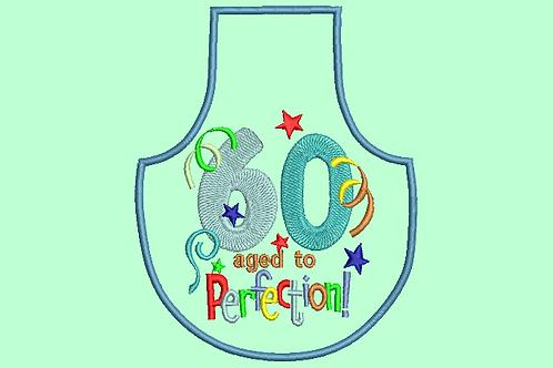 60 Age Bottle Apron - (4x4)