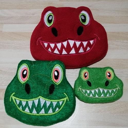 DinosaurFace Bags 4x4.5x7.6x10