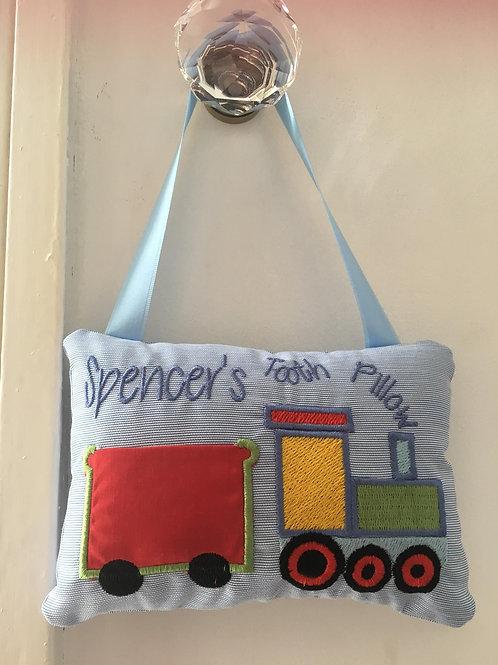 Train Tooth Fairy Pillow - (5x7)