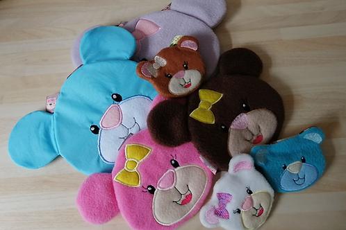 ITH Bear Zip Bags.4x4.5x7.6x10