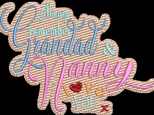 Grandad & Nanny Love You Blanket