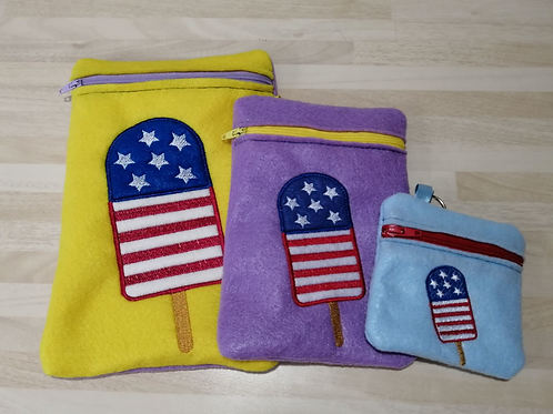 American Ice LollyZip Pouch