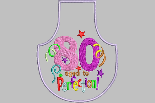80 Age Bottle Aprons - (5x7)